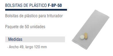 Bolsitas Para Triturador Pastillas Profesional F-CR-290