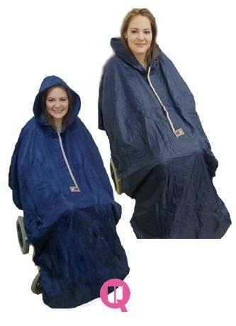 Impermeable Silla De Ruedas. Alta proteccion contra frio y lluvia.