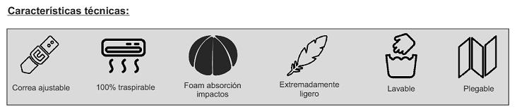 Gorro Para Absorción De Impactos BASEBALL CAPDe RIBCAP.