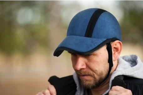 Protector Craneal GORRA Azul Acolchado. Para personas con necesidades especiales.