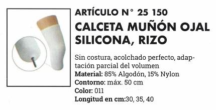 Calceta Muñón Ojal Silicona Rizo