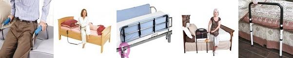 barandillas para seguridad en la cama