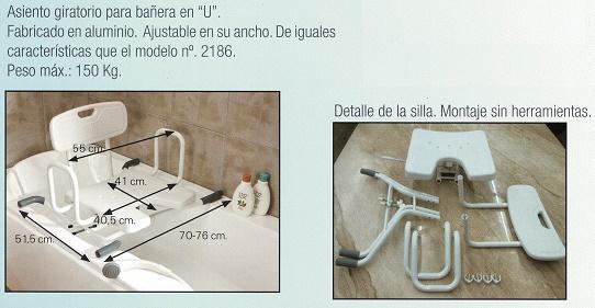 silla para baño giratorio con respaldo