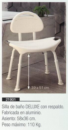 silla de baño deluxe
