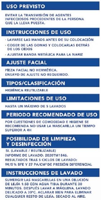 Mascarilla Higiénica Infantil Reutilizable